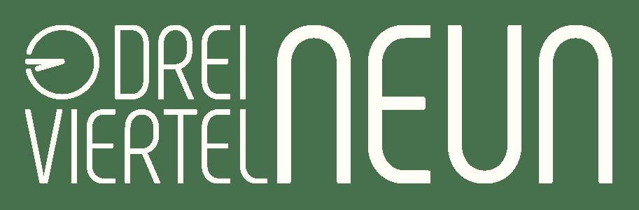 Logo DREIVIERTELNEUN Digital Design Studio